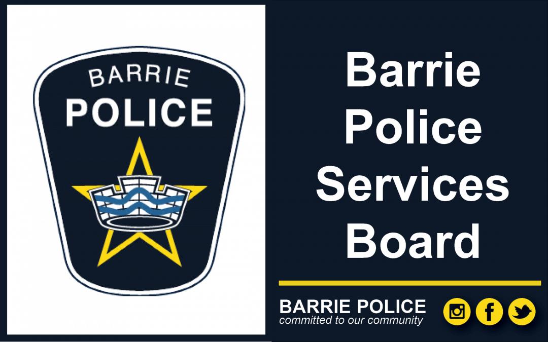 Barrie Police Services Board – September 17, 2020